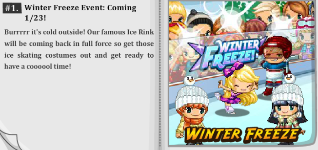 New Event To Be Released Today!